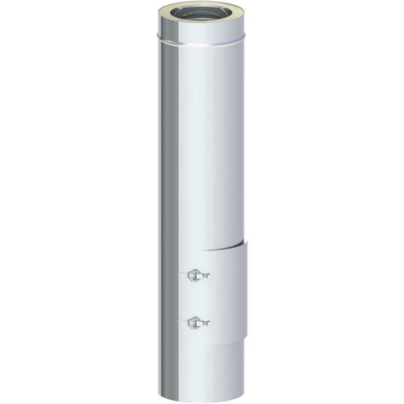 Tecnovis DW-Classic Reinigungselement Design Plus mit Kugelfang - Russtopf und Wandfutter für 2mm Rohre