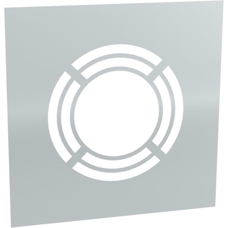 Tecnovis DW-Classic Wand- Deckenblende- einteilig 0- mit Hinterlüftung