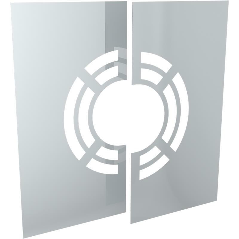 Tecnovis DW-Classic Wand- Deckenblende- zweiteilig 0- mit Hinterlüftung