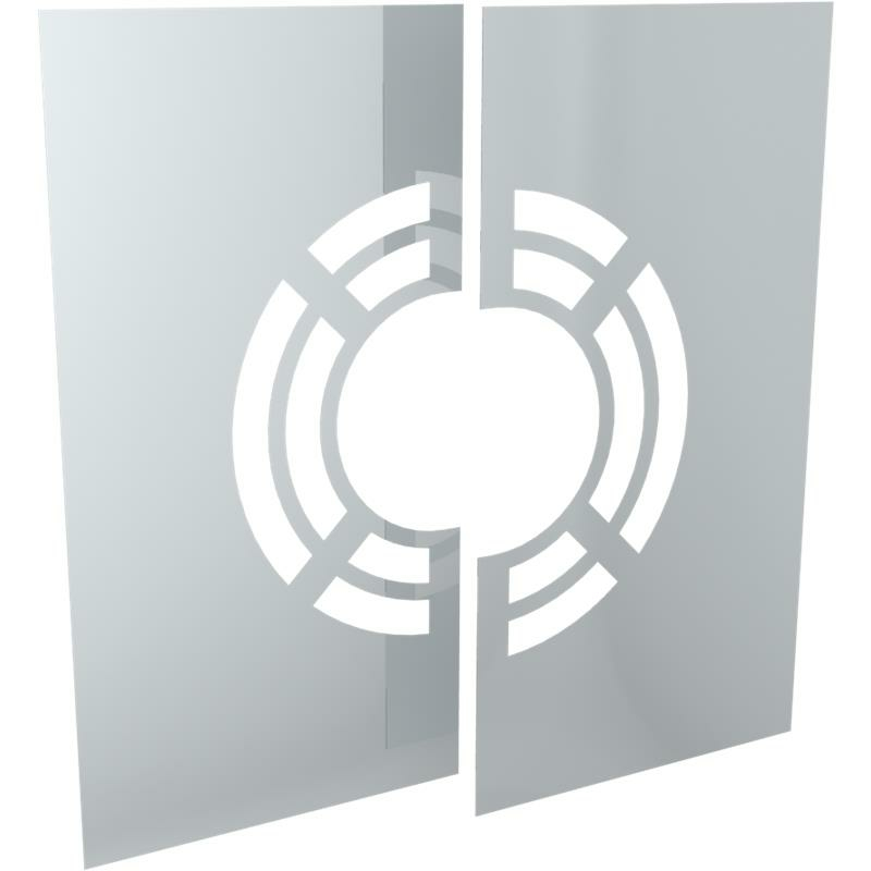 Tecnovis DW-Classic Wand- Deckenblende- zweiteilig 1-65- mit Hinterlüftung