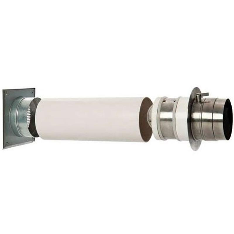Verbrennungsluftsystem mit Doppelklappe 50-150mm (VLS) Zuluft-Set für Kamin