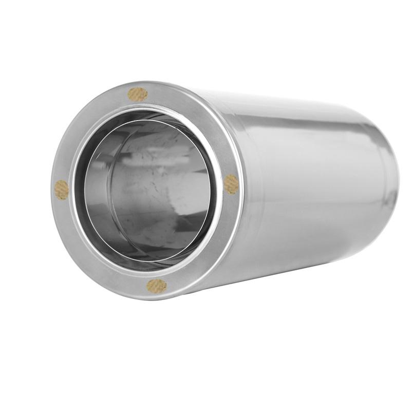 Wanddurchführung kürzbar 1000mm für Schornsteinsets 130mm DW6