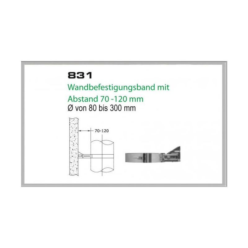 Wandhalterung 70-120mm für Schornsteinsets 150mm DW6