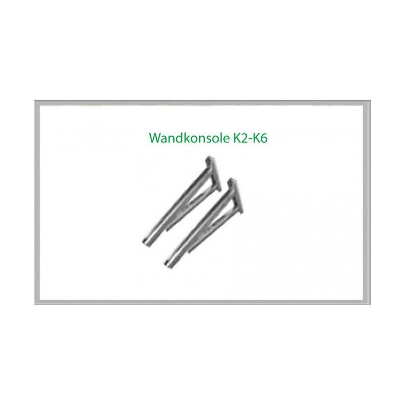 Wandkonsole K2 554mm für Schornsteinsets 180mm DW6