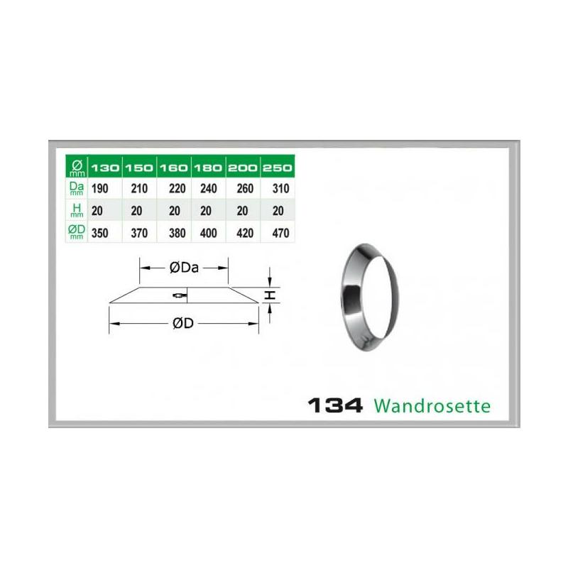 Wandrosette für Schornsteinsets 150mm DW6
