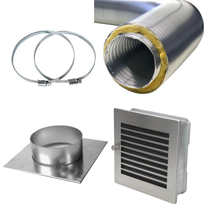 Warmluftführung Set für Pelletöfen Kanalisierung