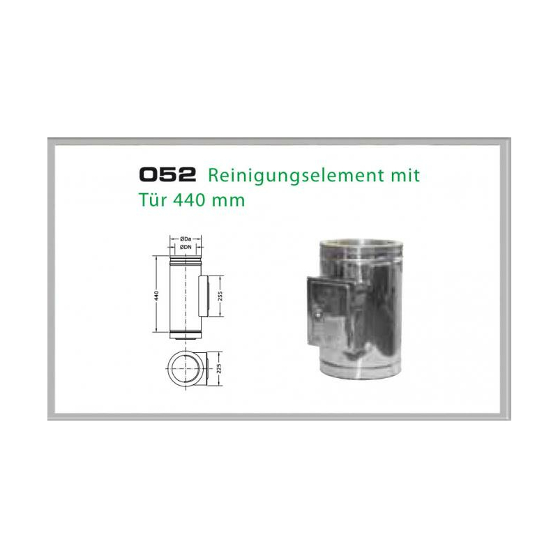 Zusätzliche Reinigungöffnung für Schornsteinsets 200mm DW6
